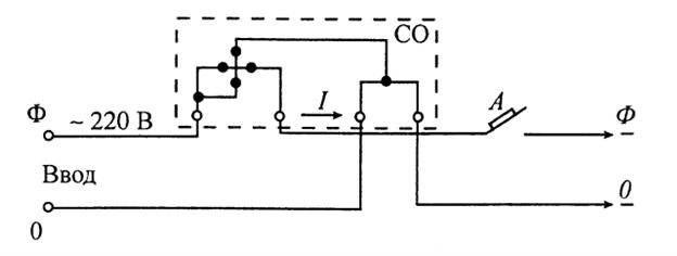 Схема включения однофазного индукционного счетчика