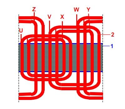 трехфазный двухполюсный симультанный генератор