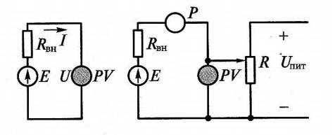 Схемы измерения ЭДС