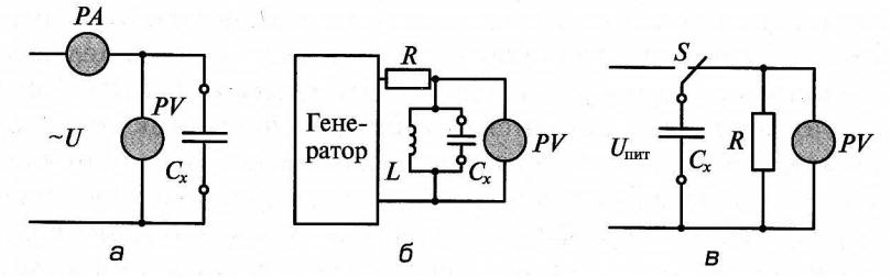 Схемы измерения емкости