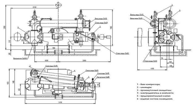 Роторный компрессор принцип работы