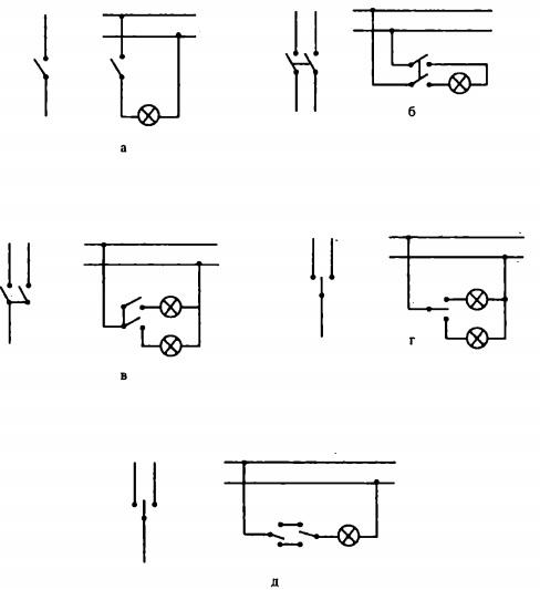 Схемы соединения и включения в