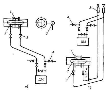 Схема соединительных линий при