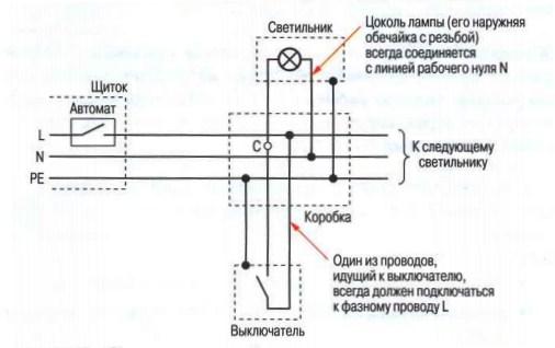 схеме монтажная схема