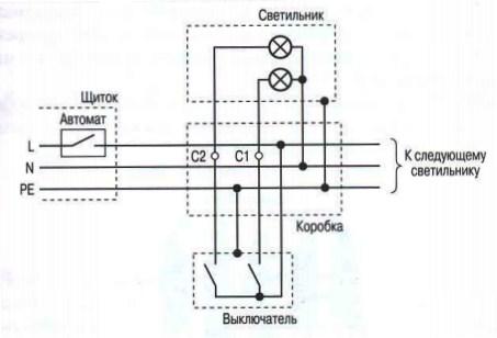 принципиальная схема люстры