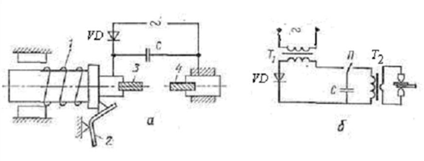 Схемы конденсаторной сварки