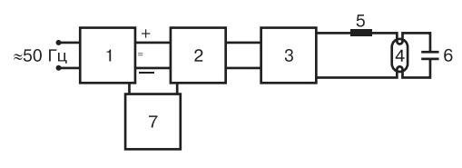 Блок-схема электронного аппарата включения